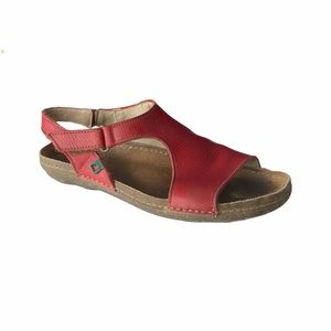 El Naturalista Torcal N309 red Leather Sandal 8